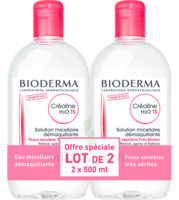 Crealine Ts H2o Solution Micellaire Sans Parfum Nettoyante Apaisante 2fl/500ml à  ILLZACH