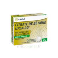 Citrate De Bétaïne Upsa 2 G Comprimés Effervescents Sans Sucre Menthe édulcoré à La Saccharine Sodique T/20 à  ILLZACH