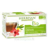 Herbesan Infusion Bio Tisane Détox 20 Sachets à  ILLZACH