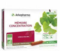 Arkofluide Bio Ultraextract Solution Buvable Mémoire Concentration 20 Ampoules/10ml à  ILLZACH