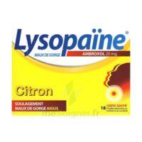 LysopaÏne Ambroxol 20 Mg Pastilles Maux De Gorge Sans Sucre Citron Plq/18 à  ILLZACH