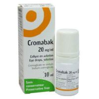 Cromabak 20 Mg/ml, Collyre En Solution à  ILLZACH