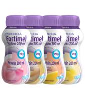 Fortimel Protein Nutriment Multi Saveurs Caramel/vanille/fraise/mangue 4 Bouteilles/200ml à  ILLZACH